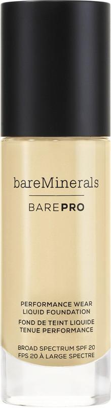 BAREPRO Performance Wear Liquid Foundation Broad Spectrum SPF 20 - Natural 11 (for light neutral skin w/ subtle pink undertones)