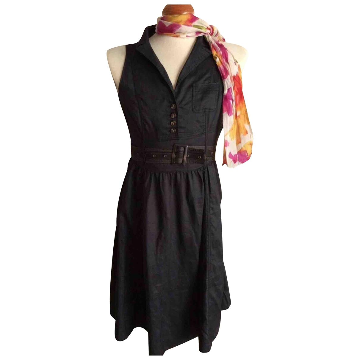 - Robe   pour femme en lin - noir