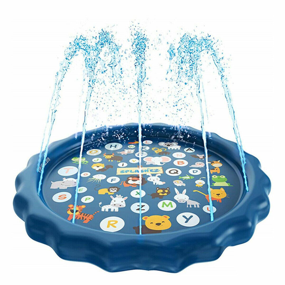3-in-1 Sprinkler for Kids, Splash Pad, and Wading Pool for Learning – Children's Sprinkler Pool, 68''Inflatable Water