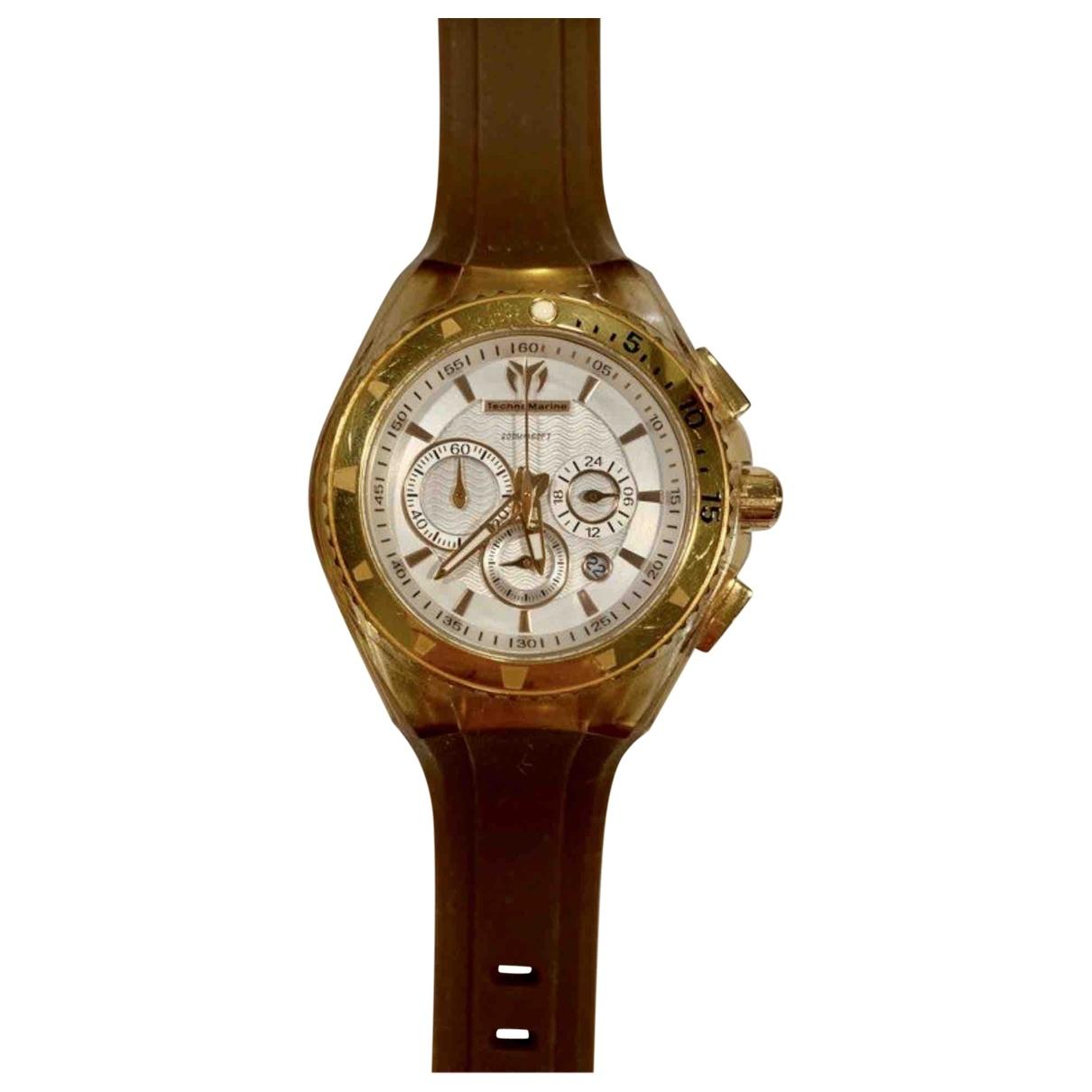 Technomarine, Geneve \N Uhr in  Gold Stahl