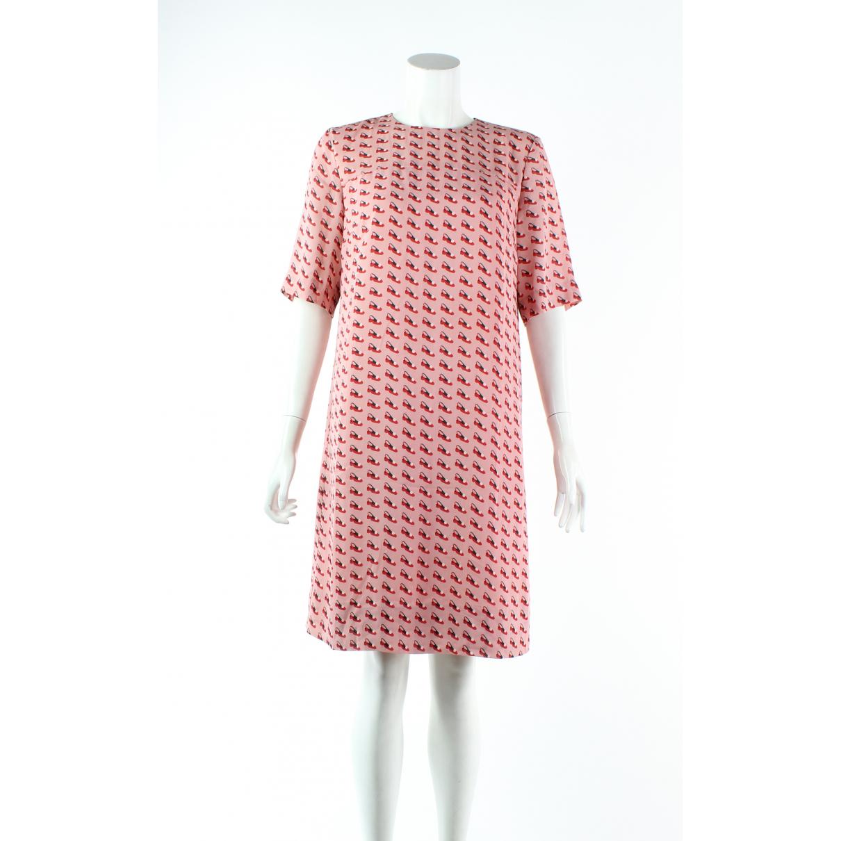 Orla Kiely \N Kleid in  Rosa Viskose