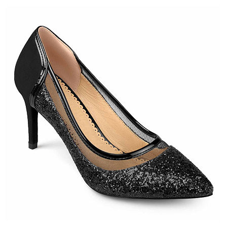 Journee Collection Womens Kalani Pumps Stiletto Heel, 5 1/2 Medium, Black