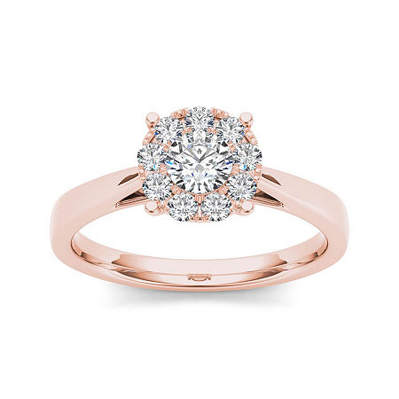 1/2 CT. T.W. Diamond 10K Rose Gold Engagement Ring, 6 1/2 , No Color Family