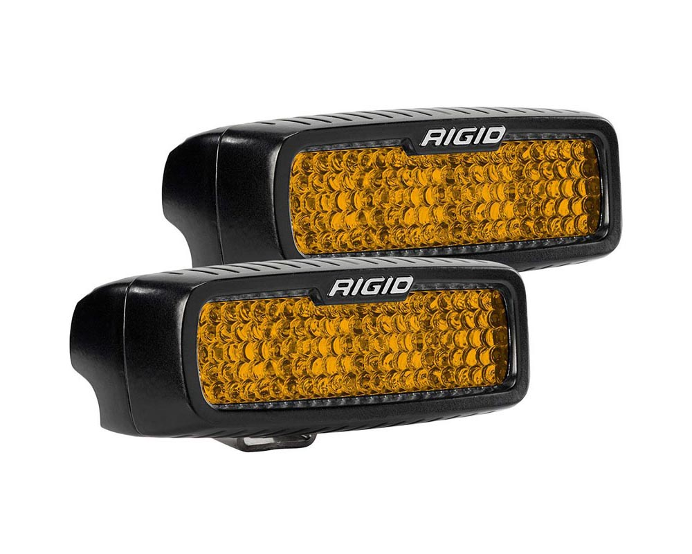 RIGID Industries Diffused Rear Facing High/Low Surface Mount Amber Pair SR-Q Pro