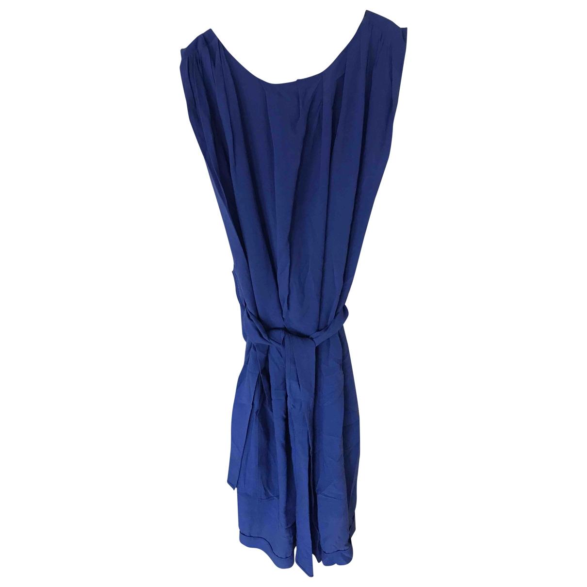 Acne Studios - Robe   pour femme en coton - elasthane - violet