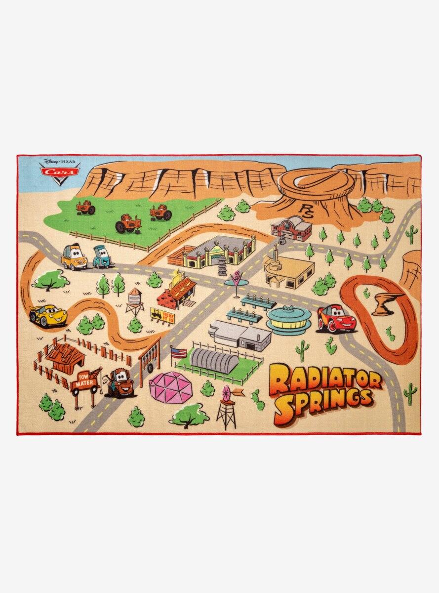 Disney Pixar Cars Radiator Springs Map Rug