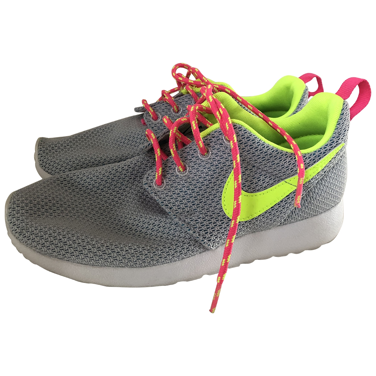 Nike - Baskets Roshe Run pour femme en toile - gris