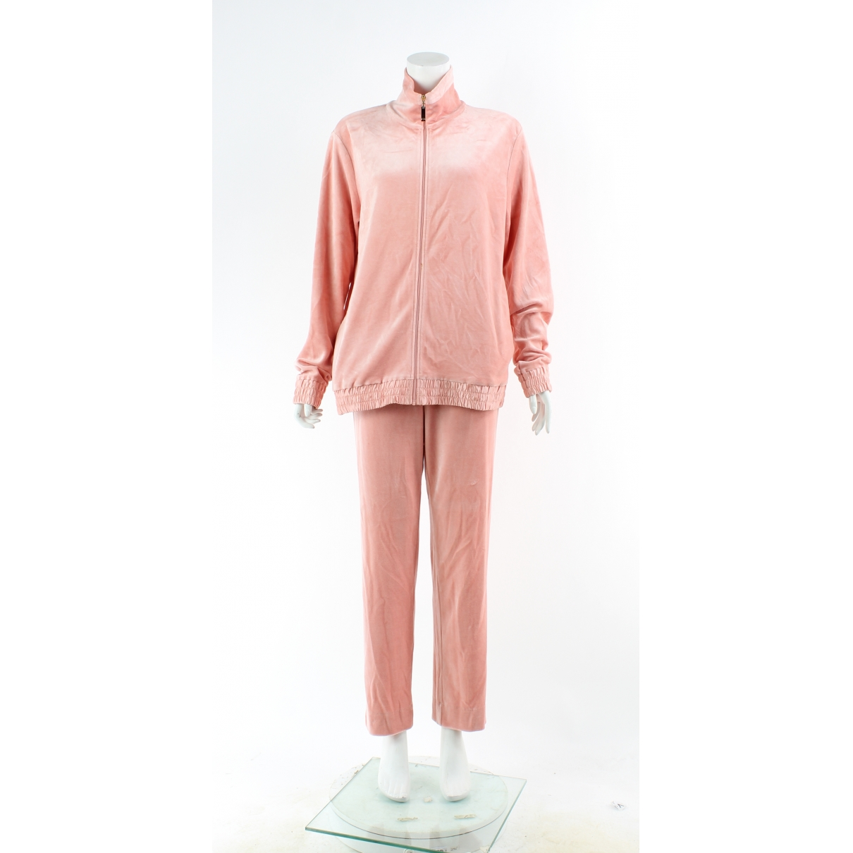 Non Signé / Unsigned \N Pink Velvet jumpsuit for Women 10 UK