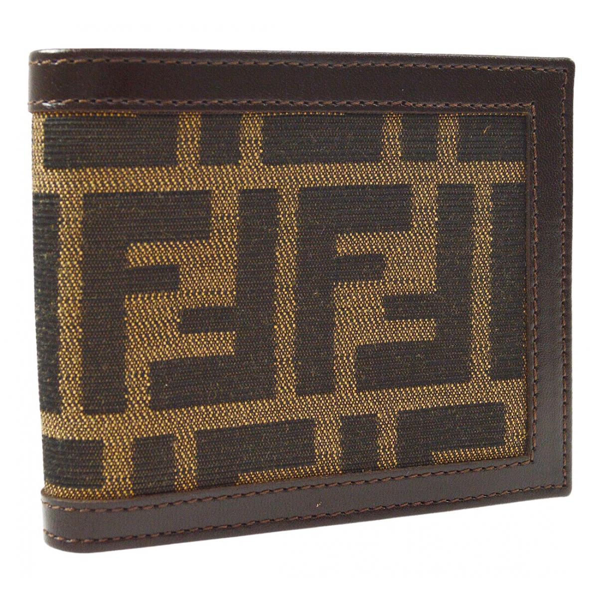Fendi \N Brown Cloth Small bag, wallet & cases for Men \N
