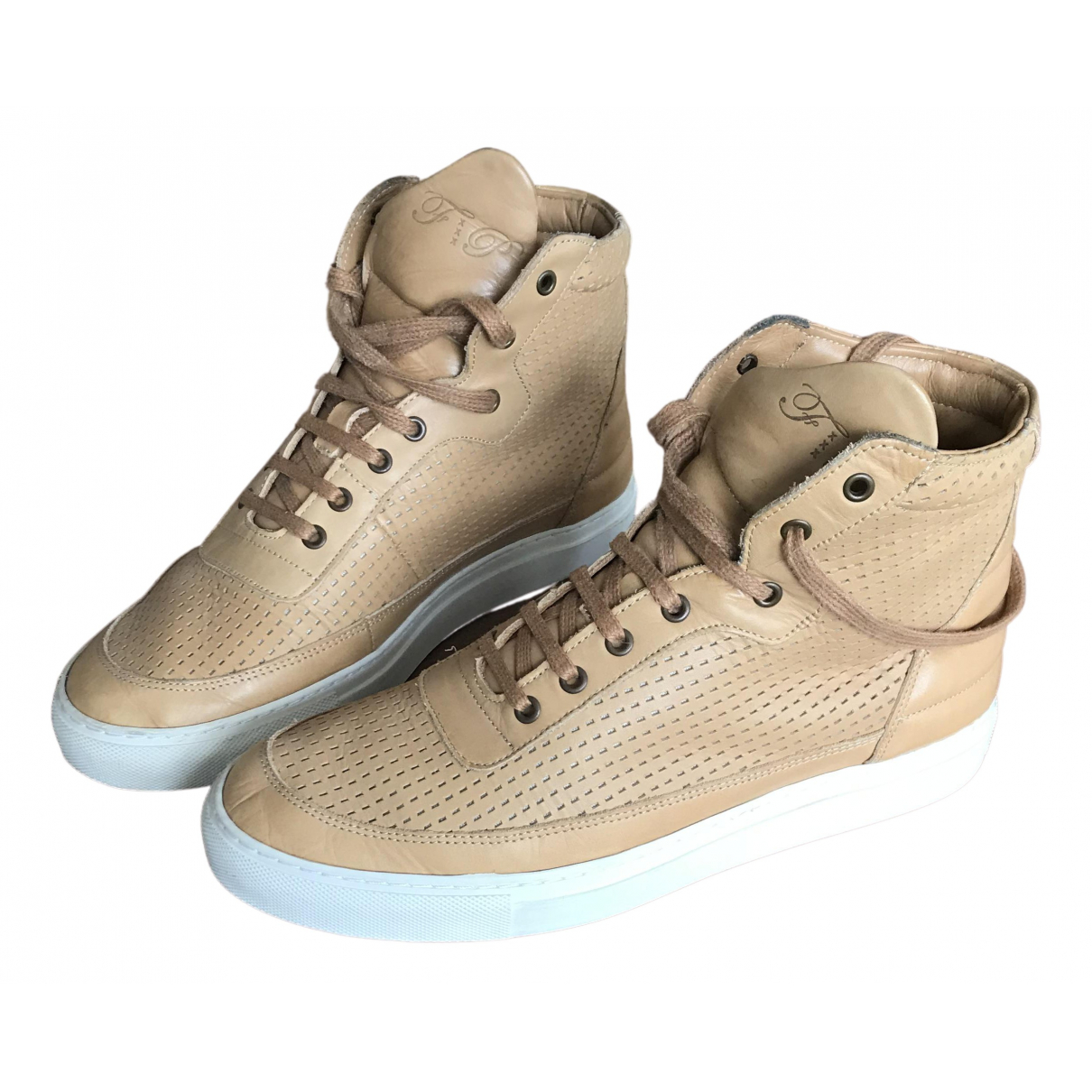 Filling Pieces N Beige Leather Trainers for Men 41 EU