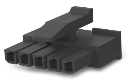 TE Connectivity , Micro MATE-N-LOK Female Connector Housing, 3mm Pitch, 5 Way, 1 Row (10)