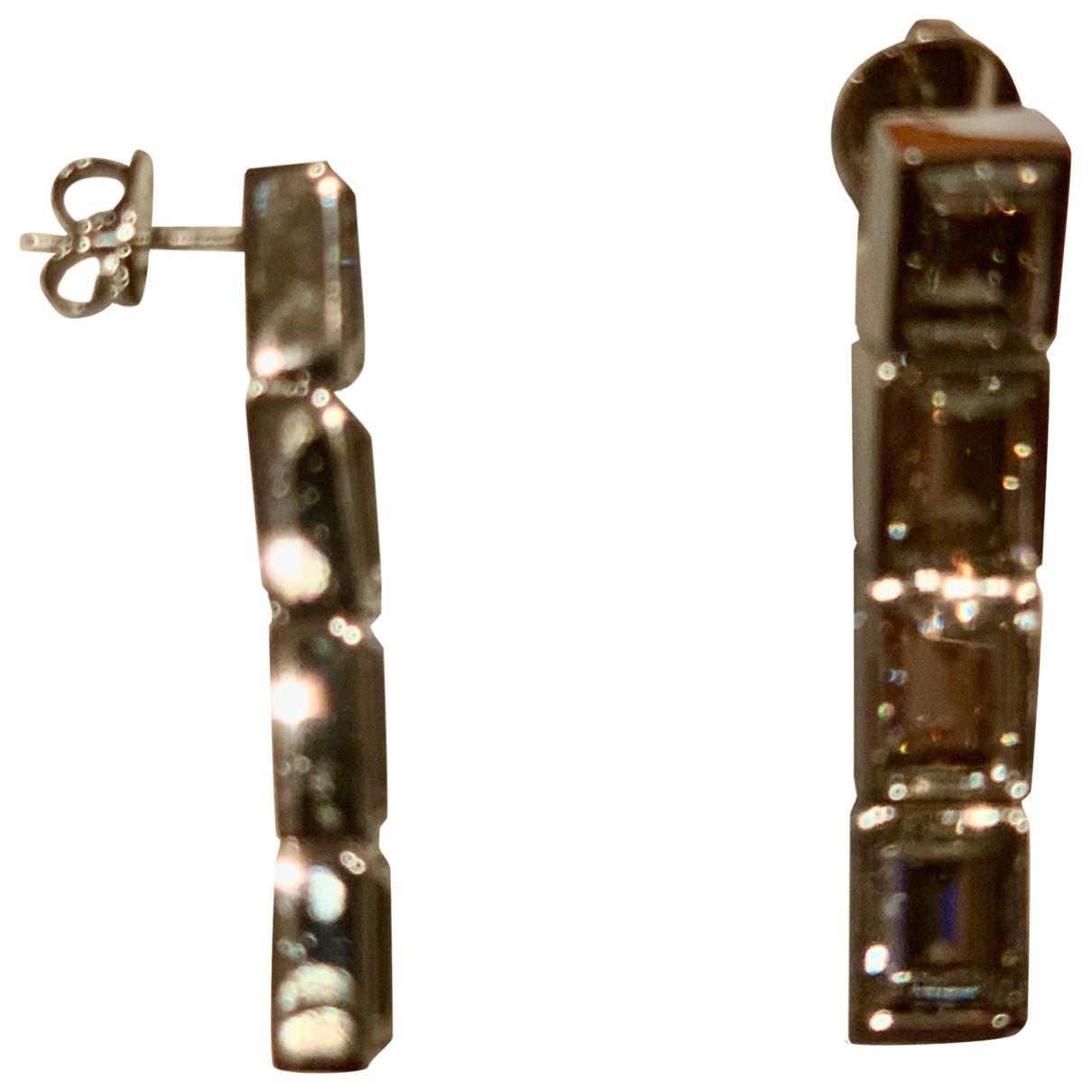 Swarovski Atelier - Boucles doreilles   pour femme en metal - argente