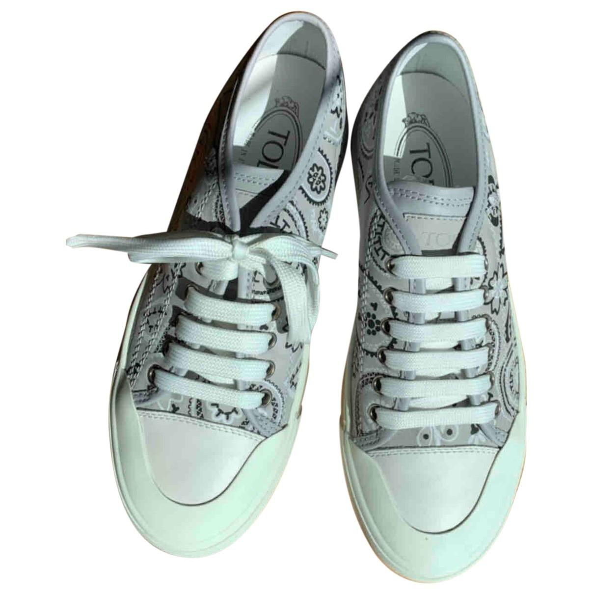 Tods \N Sneakers in  Grau Leder