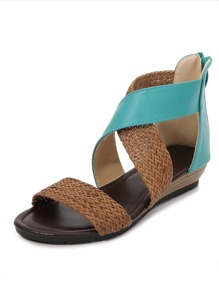 Braided Two Tone Sandals