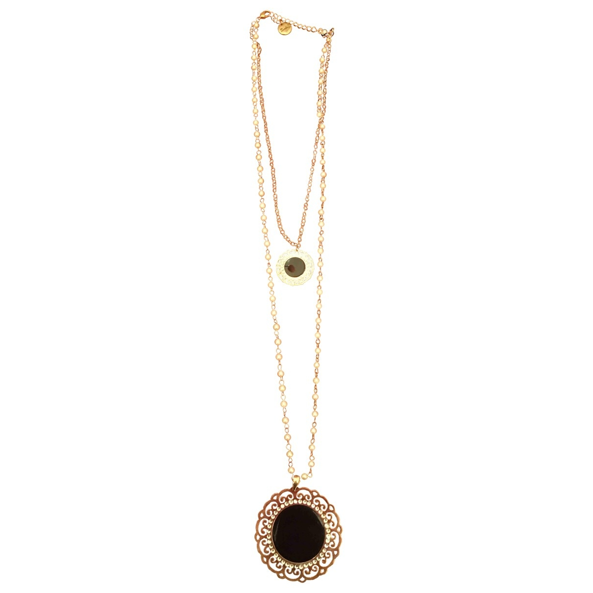 Non Signé / Unsigned \N Metallic Pink gold Long necklace for Women \N