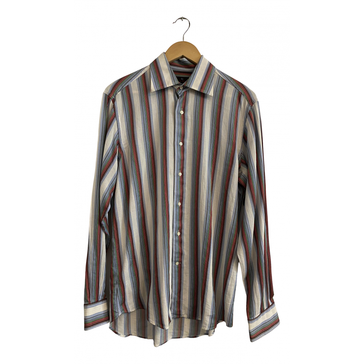 Etro N White Cotton Shirts for Men 41 EU (tour de cou / collar)