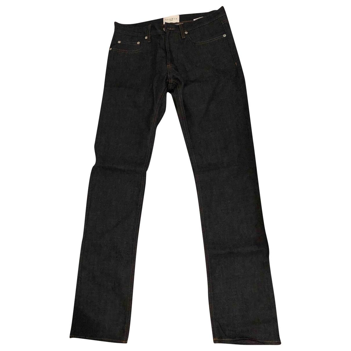 Sandro \N Blue Cotton Jeans for Men 29 US