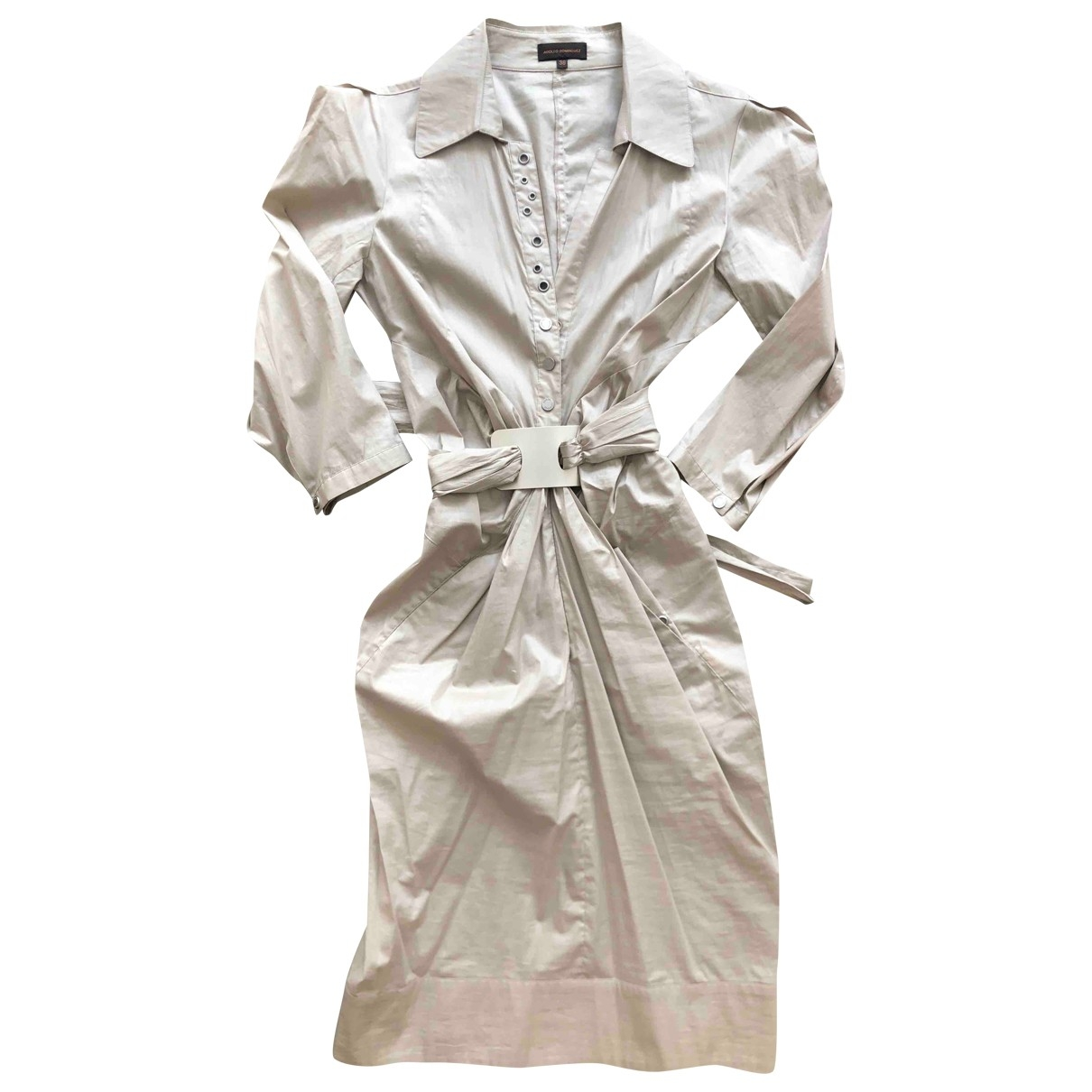 Adolfo Dominguez \N Beige Cotton dress for Women 38 FR