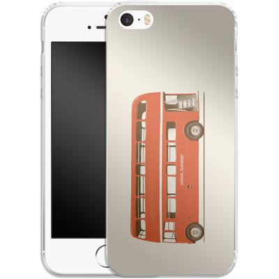 Apple iPhone 5 Silikon Handyhuelle - Red London Bus von Florent Bodart