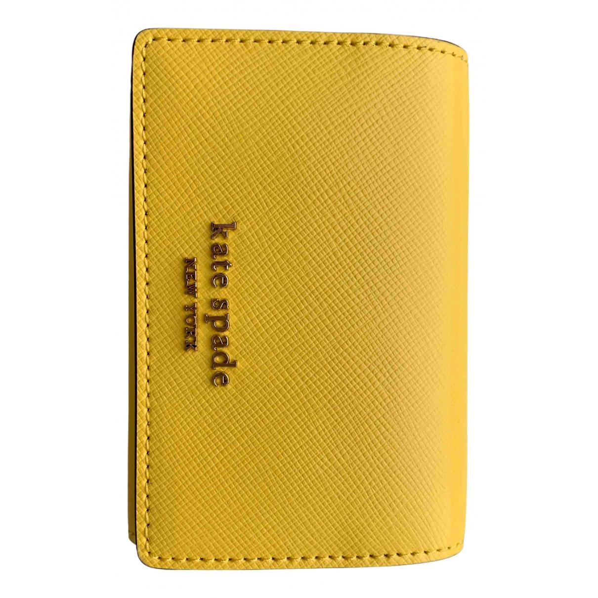 Kate Spade \N Portemonnaie in  Gelb Leder