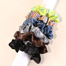6 Stuecke Haarband mit Streifen Muster