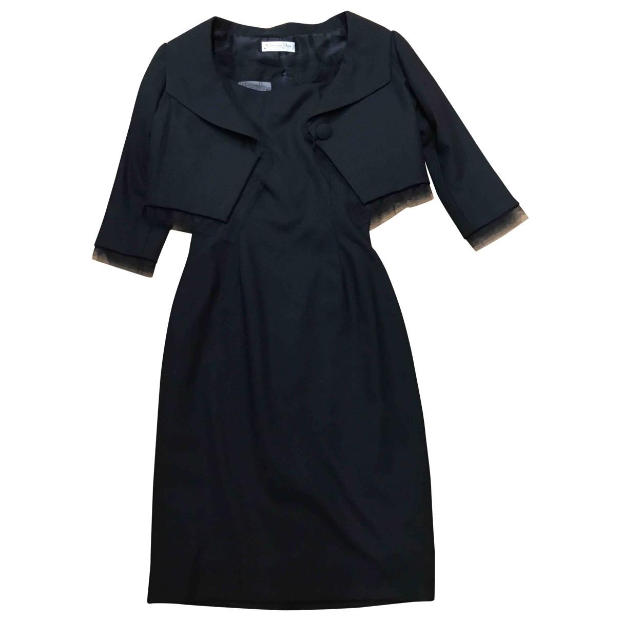 Dior \N Kleid in  Schwarz Seide