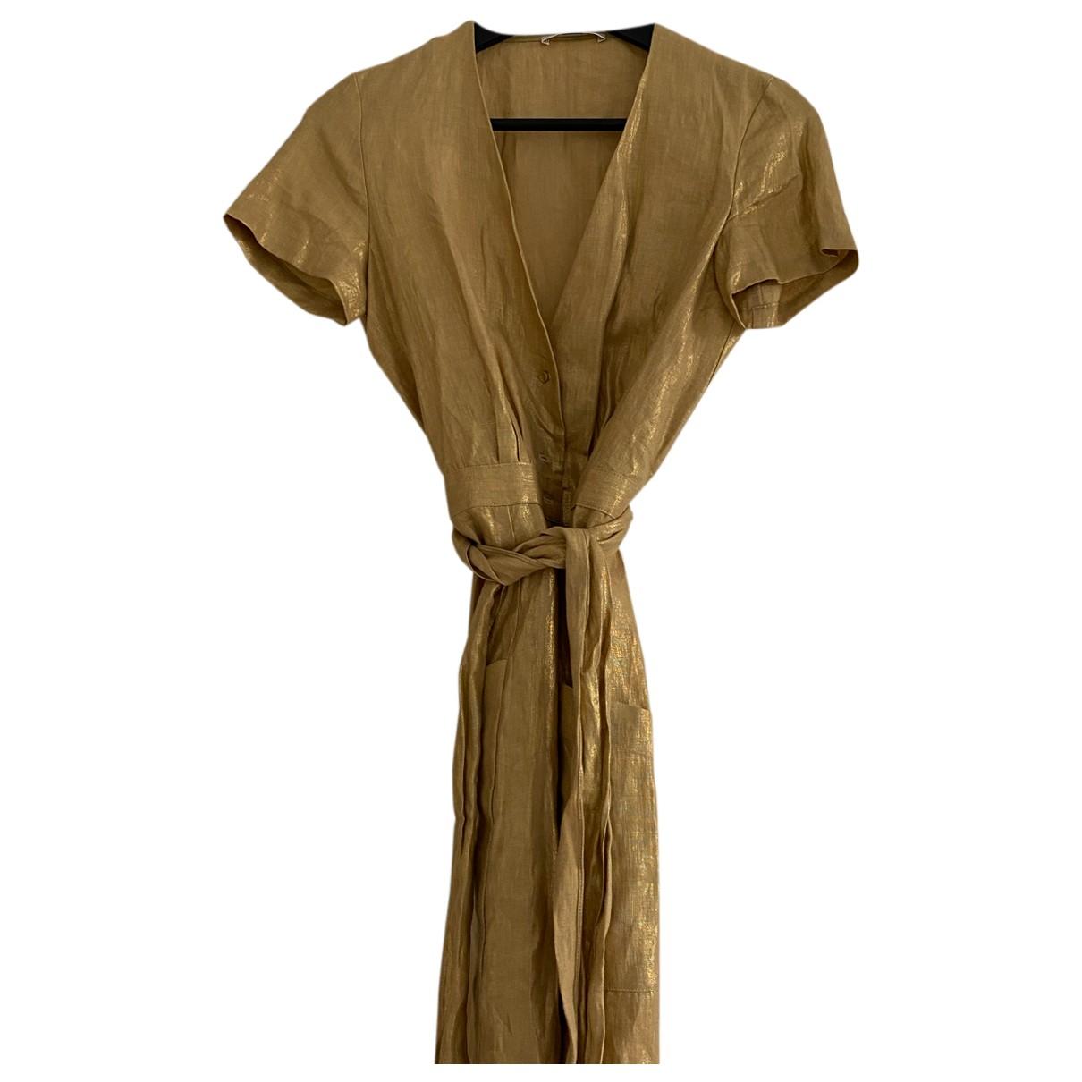 Sessun \N Kleid in  Gold Leinen