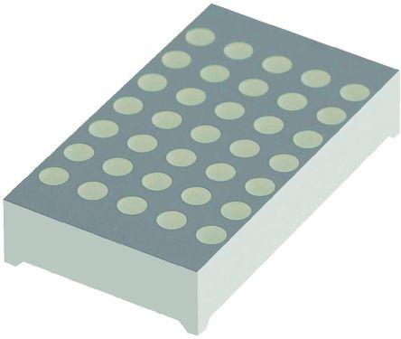 Kingbright TBC12-11SURKCGKWA  Dot Matrix LED Display, CC 7 x 5 Dot Matrix Green, Red 73000 ucd, 130000 ucd 30.5mm