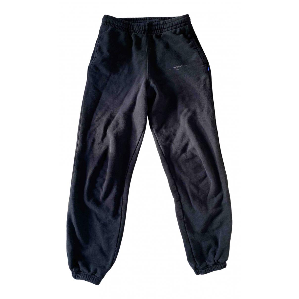 Pantalones en Algodon Negro Off-white
