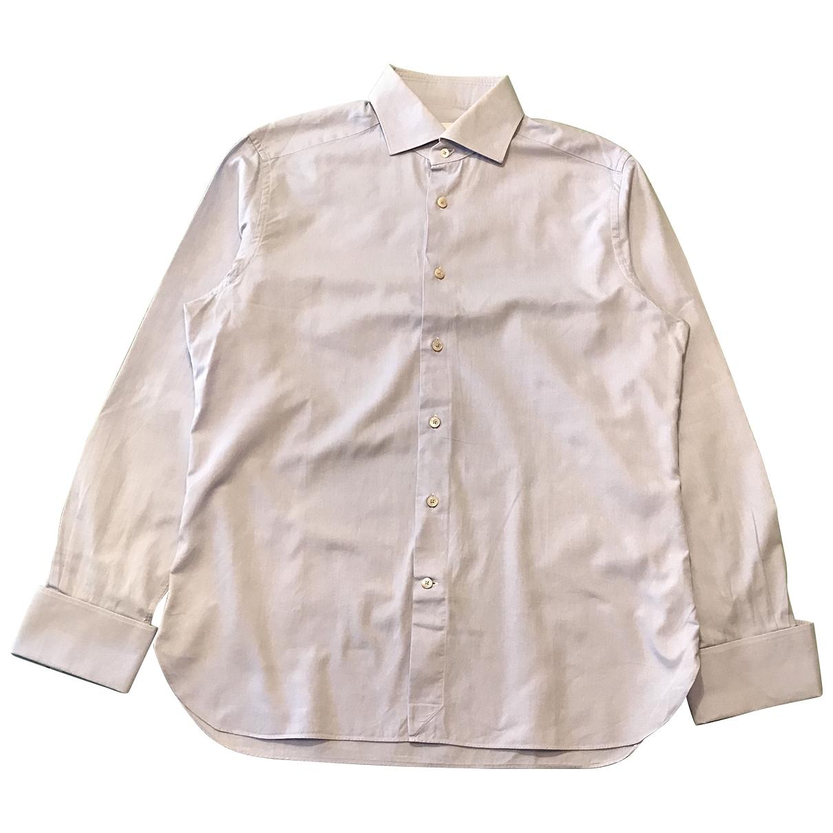 Ermenegildo Zegna - Chemises   pour homme en coton - bleu