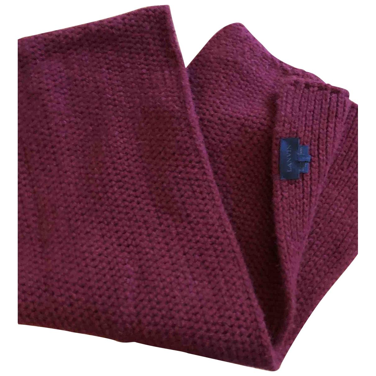 Lanvin - Cheches.Echarpes   pour homme en laine - bordeaux