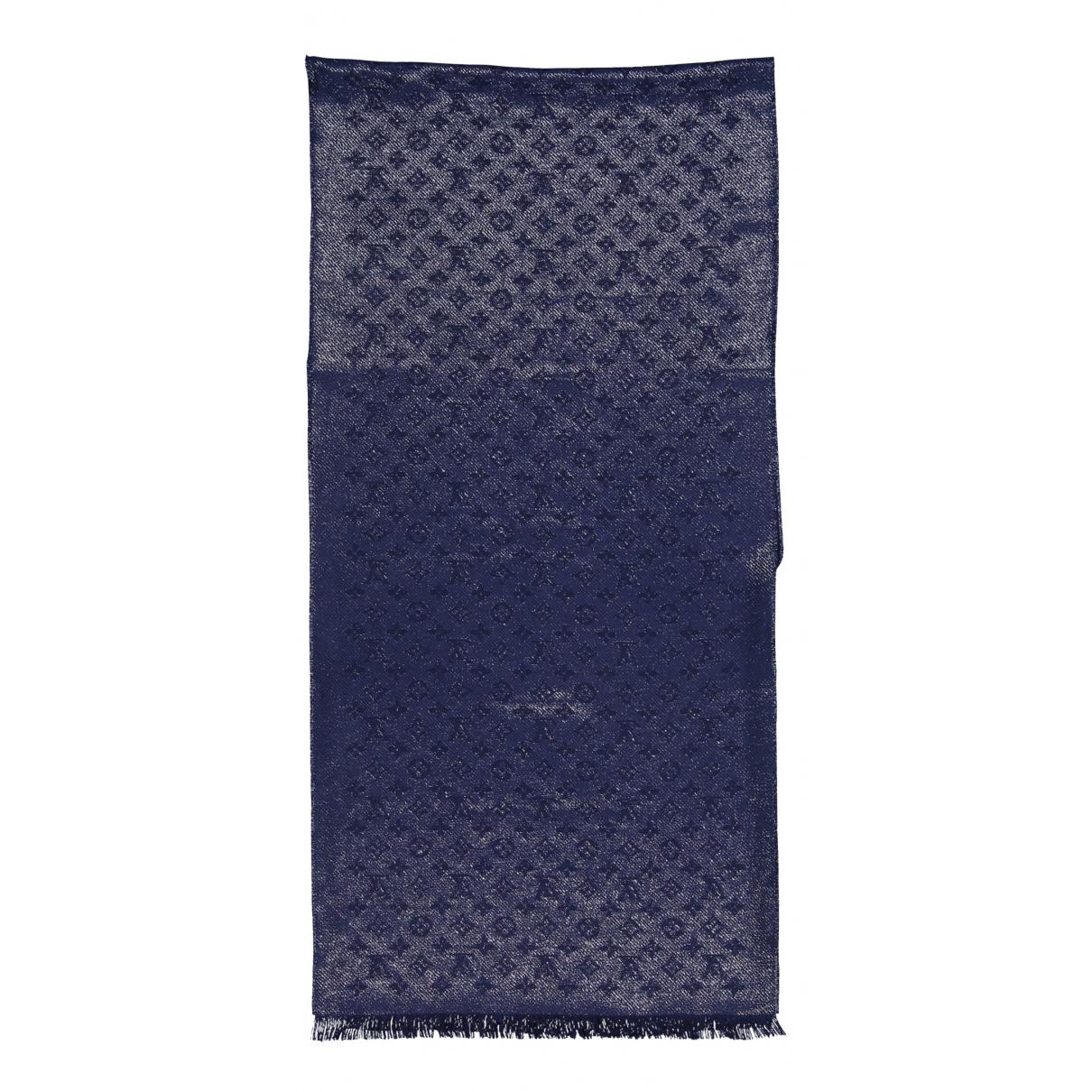 Louis Vuitton \N Schal in  Marine Kaschmir