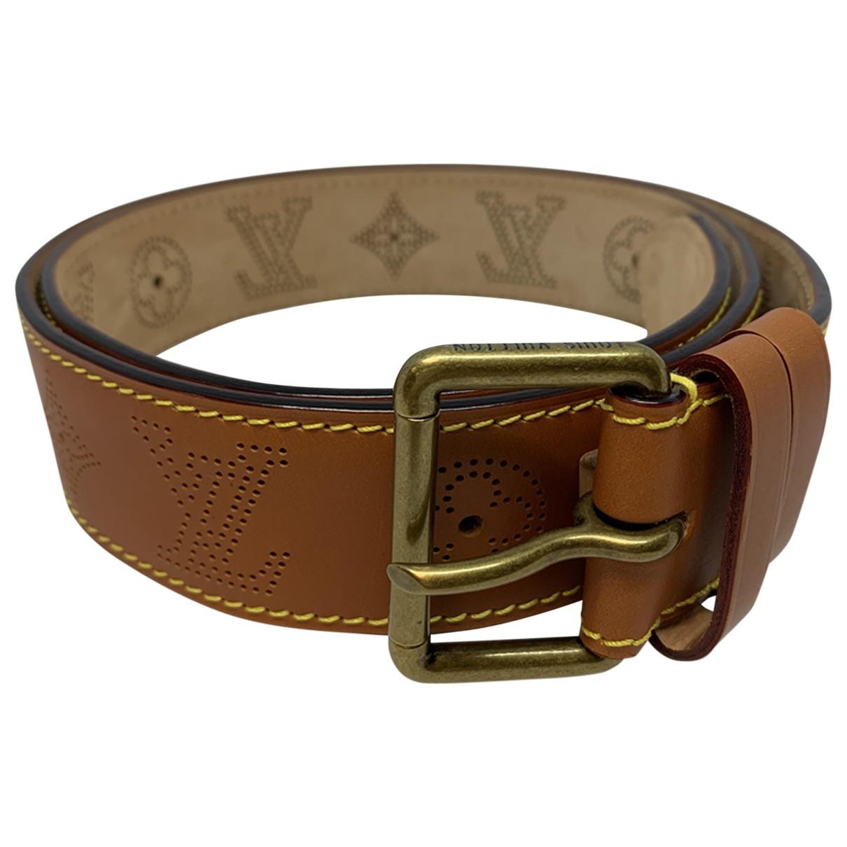 Louis Vuitton \N Camel Leather belt for Men 100 cm