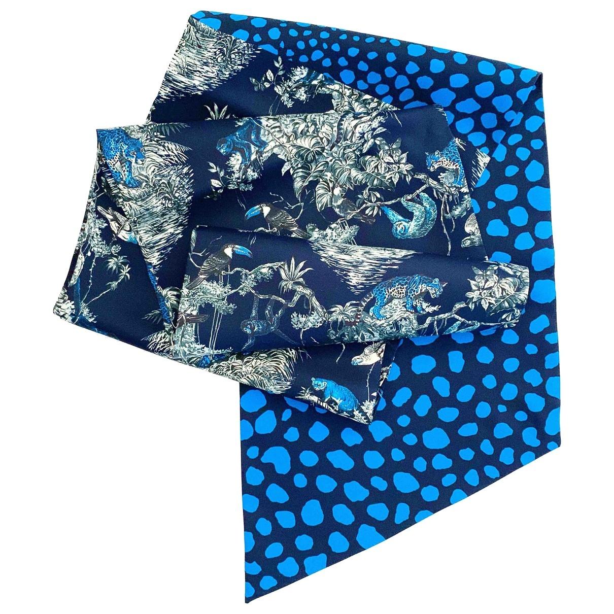 Hermès Maxi twilly Blue Silk scarf for Women \N