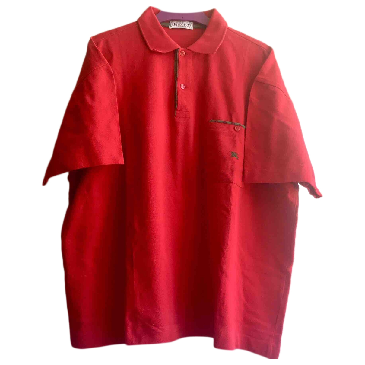 Burberry \N Red Cotton Polo shirts for Men XL International