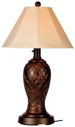 20937 Monterey Outdoor Table Lamp with Antique Beige Linen Sunbrella Shade  16 ft. Power Cord  and Two Level Dimming