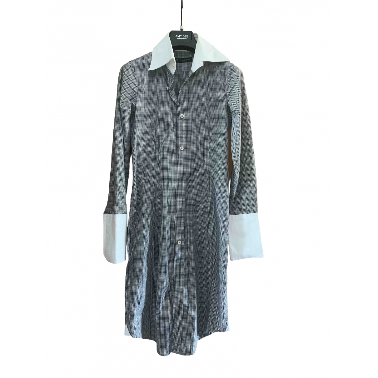 Dsquared2 \N Grey Cotton dress for Women 40 IT