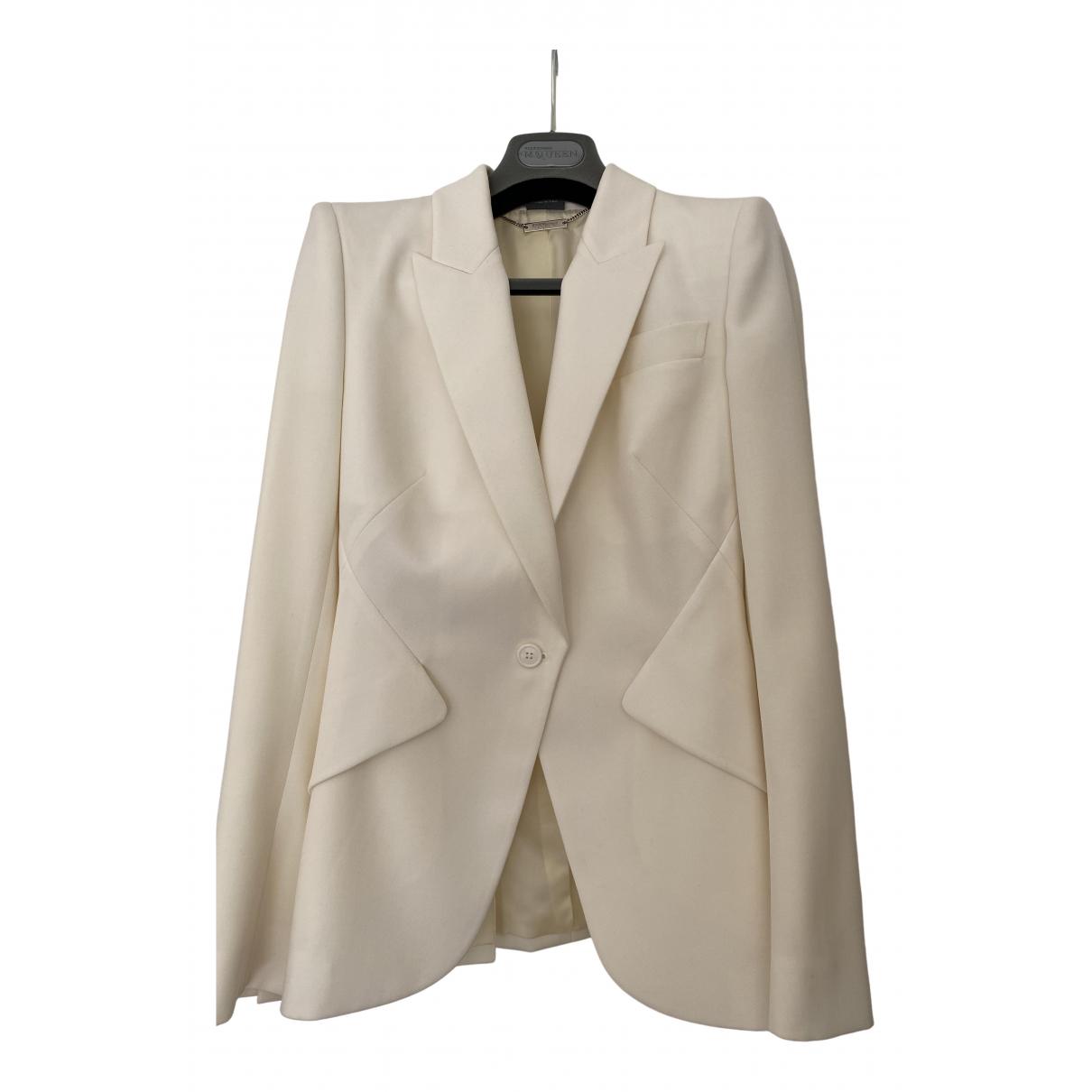 Alexander Mcqueen - Veste   pour femme en laine - beige