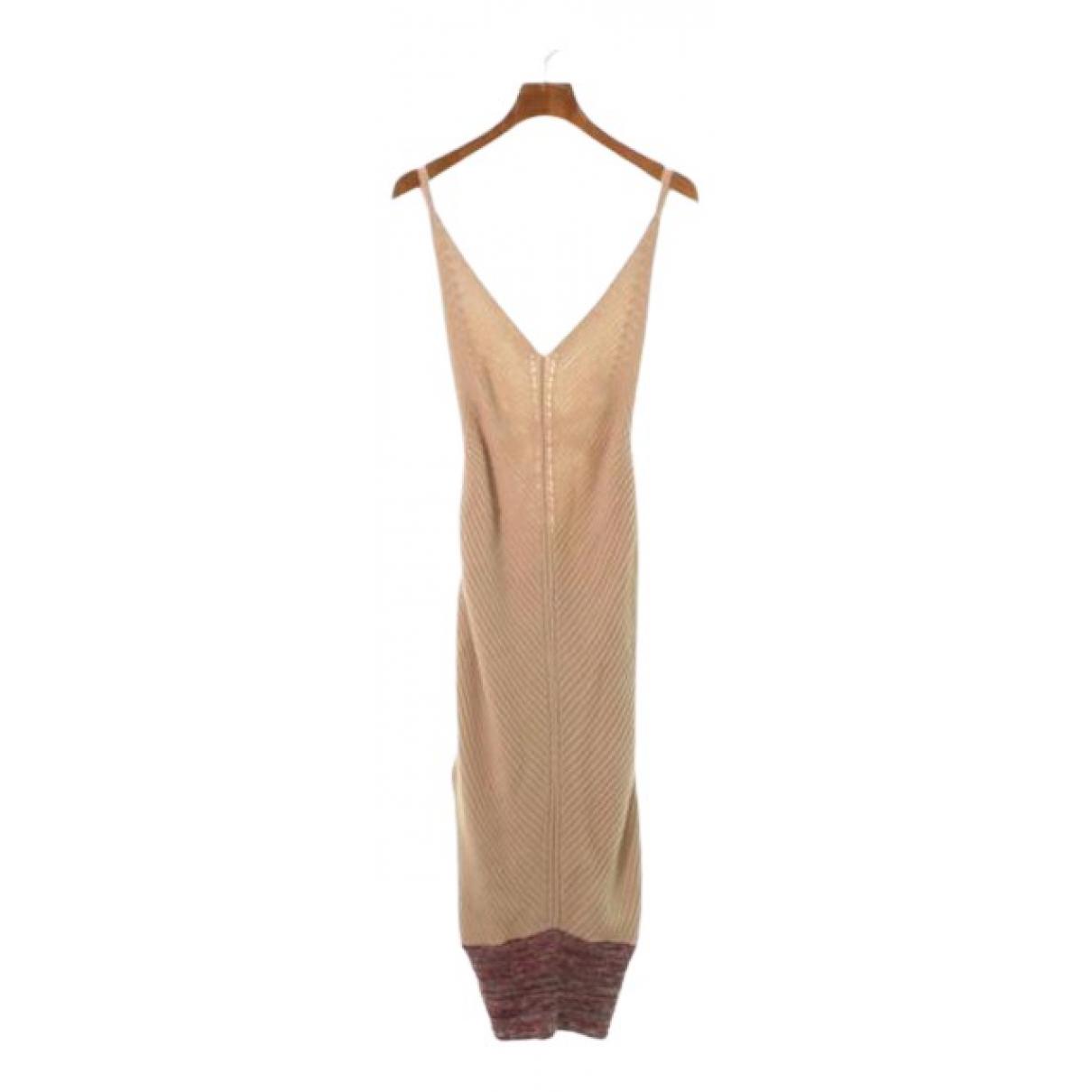 Maison Martin Margiela \N Kleid in  Beige Baumwolle