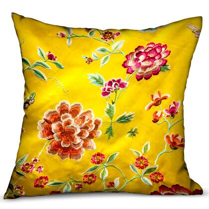 Heavenly Peonies Collection PBRA2343-2222-DP Double sided  22 x 22 Plutus Heavenly Peonies Yellow Floral Luxury Throw