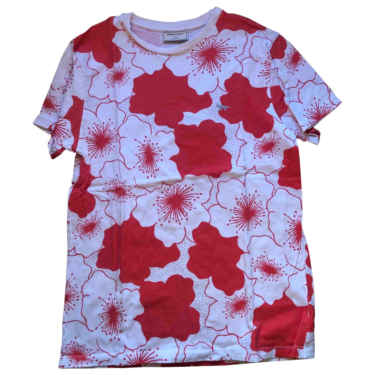 Maison Kitsune \N Red Cotton  top for Women 36 FR