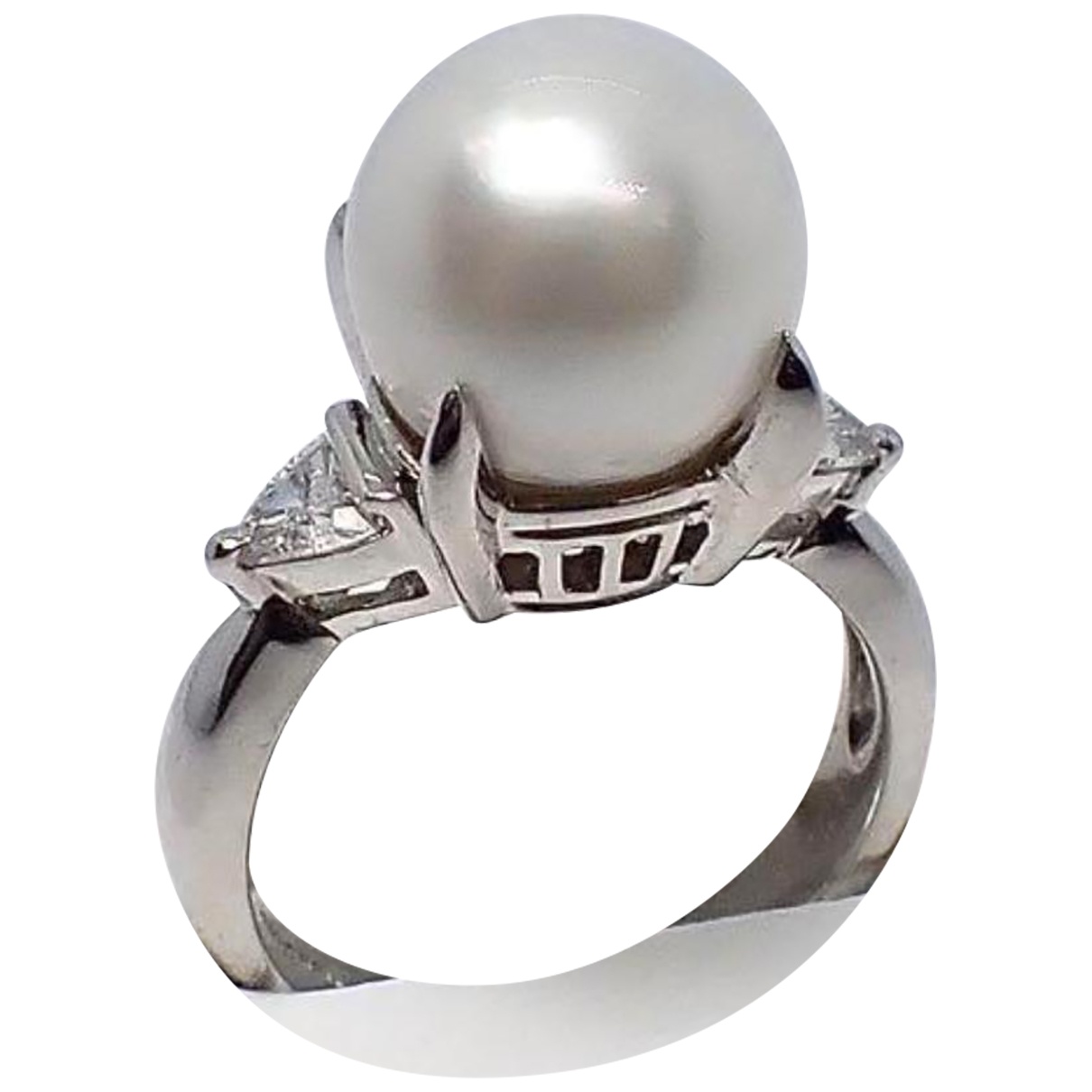 Non Signé / Unsigned \N Silver Platinum ring for Women 5 ¼ US