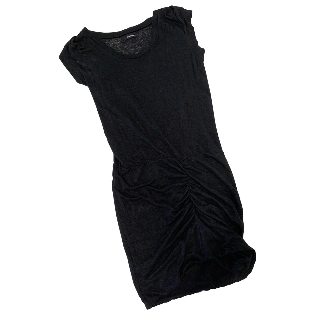 The Kooples \N Kleid in  Schwarz Leinen