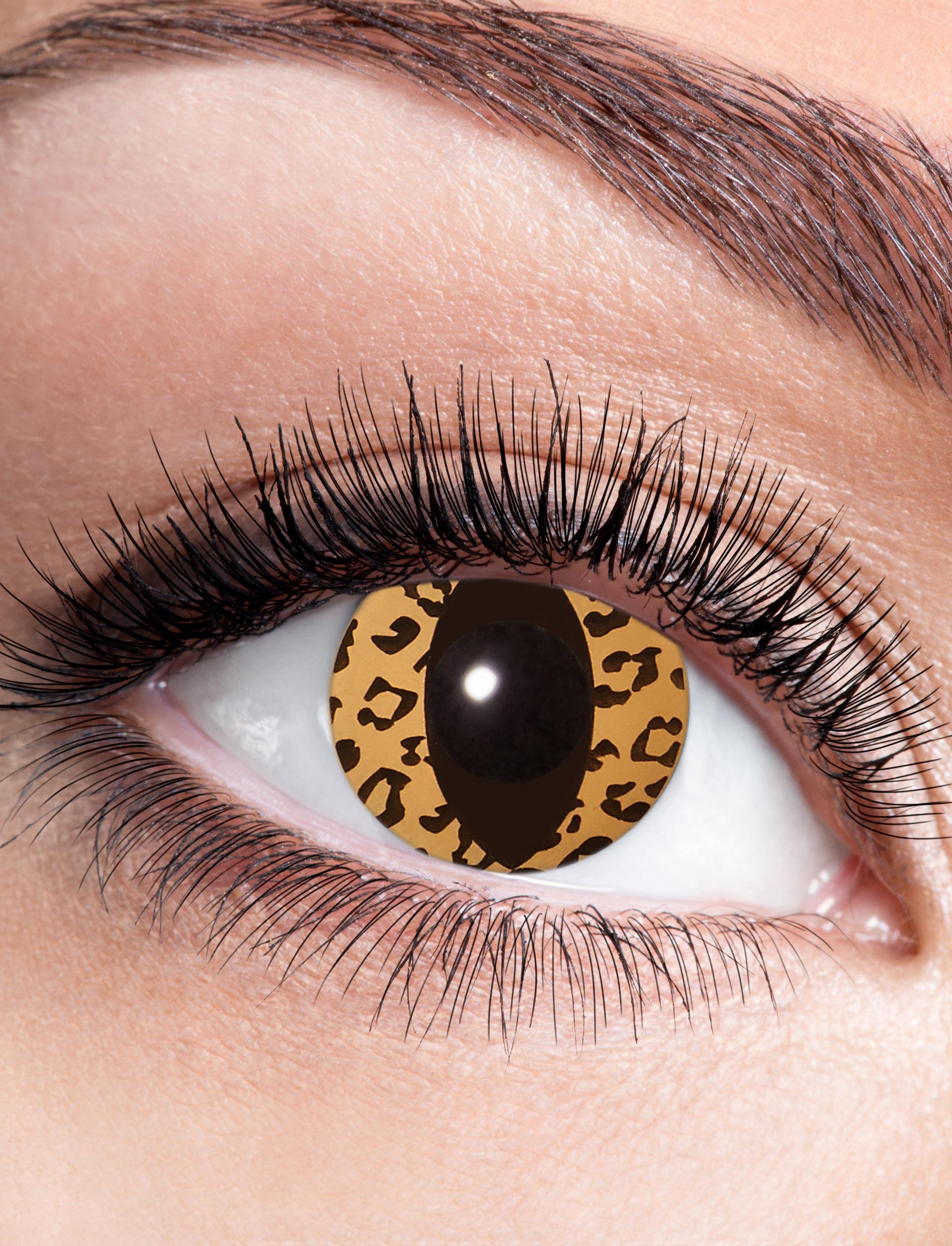 Kostuemzubehor Kontaktlinsen Leo Cat Farbe: braun