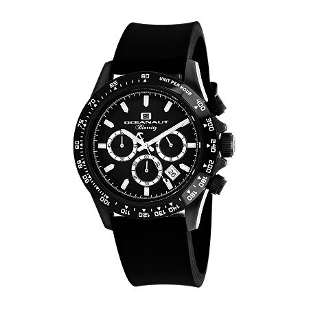 Oceanaut Mens Black Strap Watch-Oc6114r, One Size , No Color Family