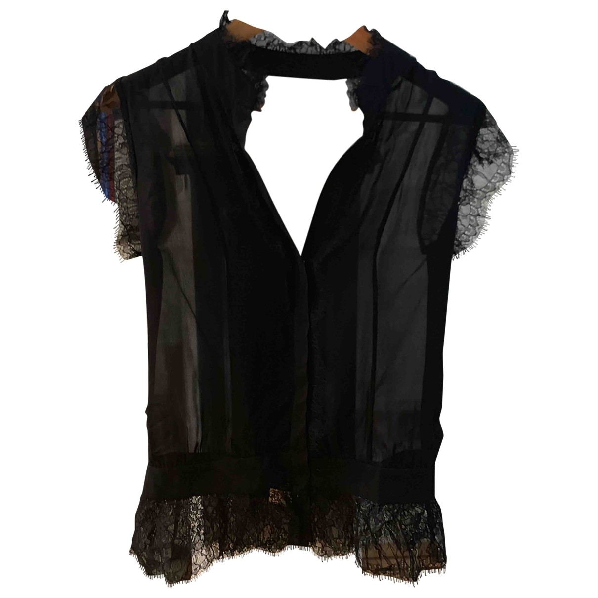 Haute Hippie \N Black Silk  top for Women S International
