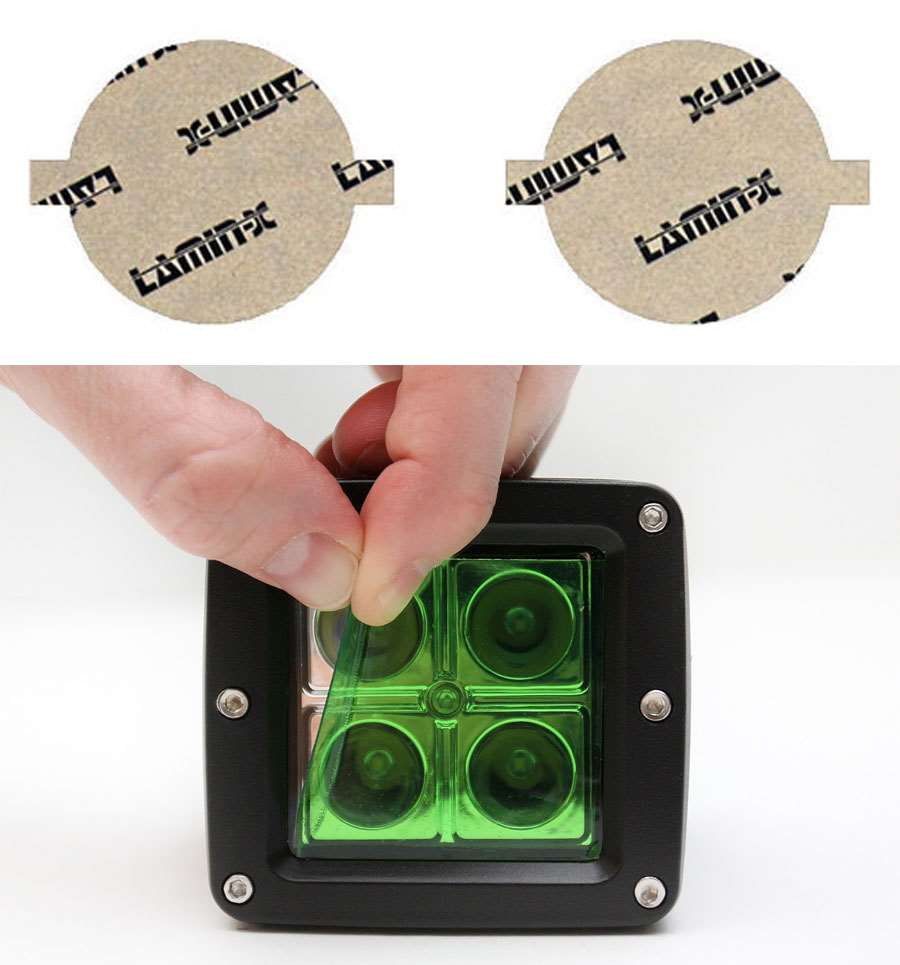 Infiniti M Sedan 11-14 Green Fog Light Covers Lamin-X I115GR