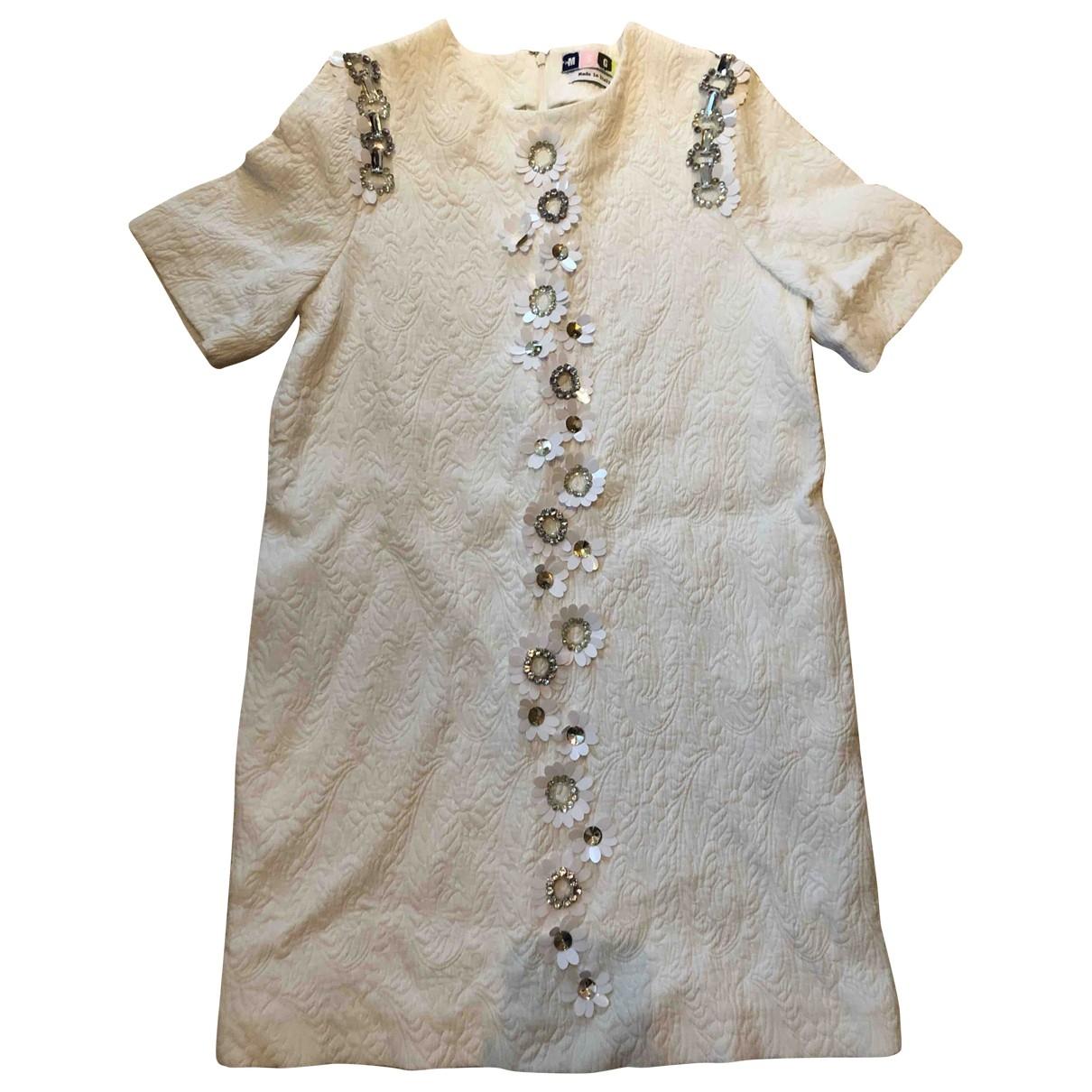 Msgm - Robe   pour femme en soie - blanc