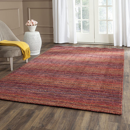 Safavieh Himalaya Collection Lysette Striped Square Area Rug, One Size , Multiple Colors