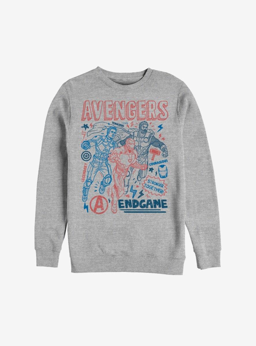 Marvel Avengers: Endgame Mightiest Doodles Sweatshirt